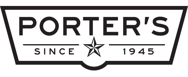 A theme logo of Porter's Grocery Store